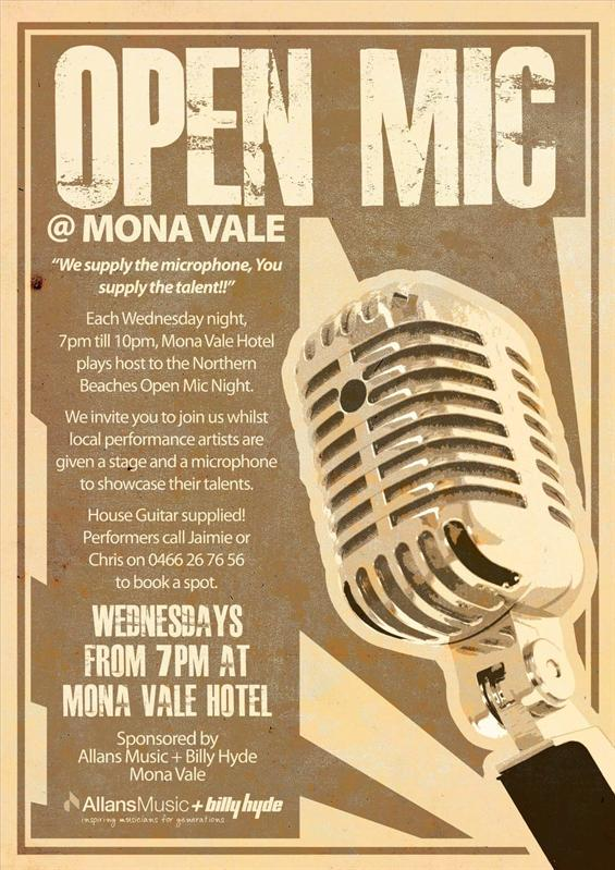 Open Mic Night Mona Vale image