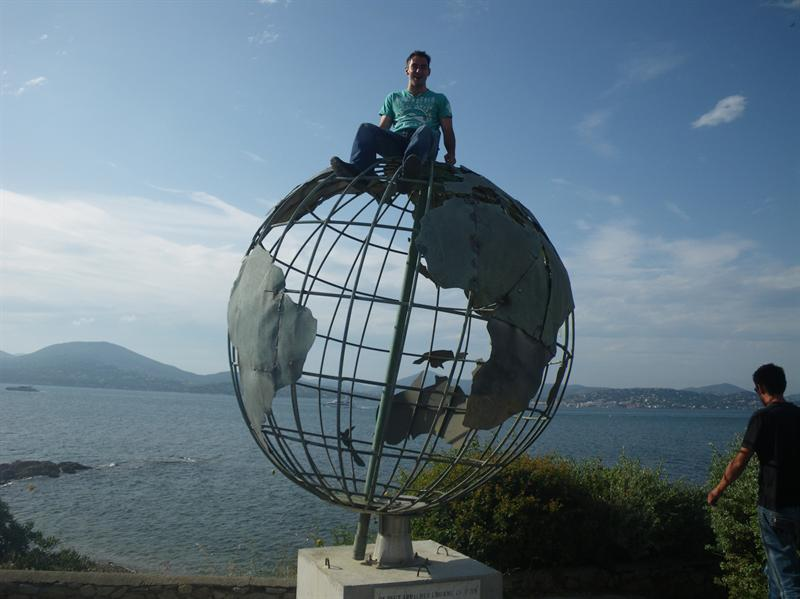 Scott on top of the world